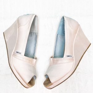 Toms Wedges Ballerina Pink Size 8.5